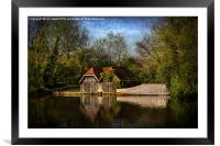 Boat Houses on the River Thames, Framed Mounted Print