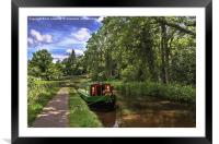 Towpath at Talybont on Usk, Framed Mounted Print