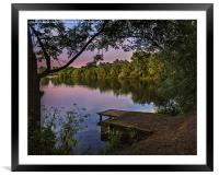A  Lakeside Evening, Framed Mounted Print