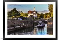 Goring on Thames Lock, Framed Mounted Print