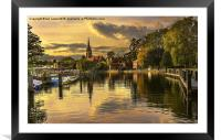 Marlow Late Afternoon, Framed Mounted Print
