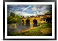 The Bridge At Wallingford, Framed Mounted Print
