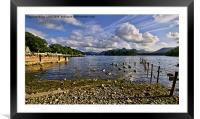 Derwentwater From The Northern Shore , Framed Mounted Print
