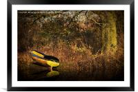 Yellow Rowing Boat, Framed Mounted Print