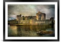 Caerphilly's Stronghold, Framed Mounted Print