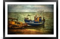 Launching from The Stade, Framed Mounted Print