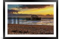Sunset of the Pier, Framed Mounted Print