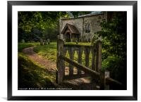 The Path To Ibstone Church, Framed Mounted Print