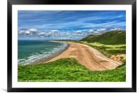 Rhossili Bay On The Gower Peninsula, Framed Mounted Print
