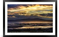 Evening Light Over The Solway Firth, Framed Mounted Print