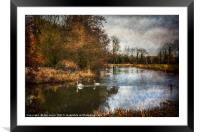 Winter Scene On The Kennet And Avon, Framed Mounted Print