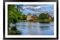 Across the Thames To Bisham Church, Framed Mounted Print