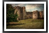 Chepstow Castle Towers, Framed Mounted Print