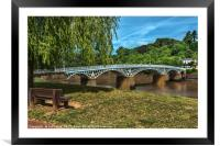A Riverside Seat At Chepstow, Framed Mounted Print