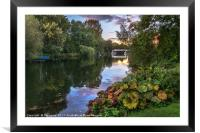 The Thames At Pangbourne, Framed Mounted Print