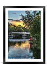 Above The Toll Bridge At Pangbourne, Framed Mounted Print