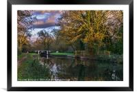 Autumn Reflections On The Kennet, Framed Mounted Print