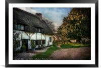 Sulhamstead Abbots Cottages, Framed Mounted Print