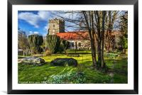 The Churchyard At Cookham, Framed Mounted Print