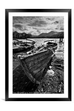 Derwentwater Rowing Boat, Framed Mounted Print