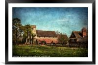 The Church at Streatley on Thames, Framed Mounted Print
