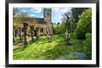 Shipton on Cherwell Church, Framed Mounted Print