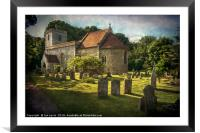 St Peter and St Paul Checkendon, Framed Mounted Print