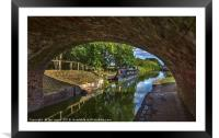 Under The Bridge At Pewsey Wharf, Framed Mounted Print