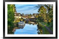 Towpath Into Hungerford, Framed Mounted Print