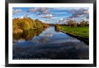 Reflections At Pangbourne Meadows, Framed Mounted Print