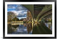 Beneath Reading Bridge, Framed Mounted Print