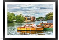 Boats For Hire At Windsor, Framed Mounted Print