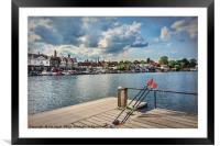 Prepared For Rowing At Henley, Framed Mounted Print