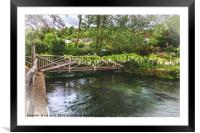 A Bridge Over The Itchen, Framed Mounted Print
