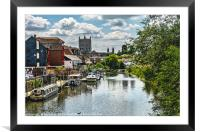 The Avon At Tewkesbury, Framed Mounted Print