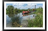Moored on the Avon At Tewkesbury, Framed Mounted Print