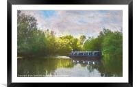 On The Avon A Digital Painting, Framed Mounted Print