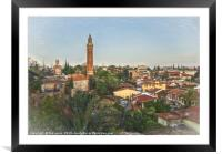 The Rooftops Of Antalya, Framed Mounted Print