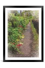 Footpath, Framed Mounted Print