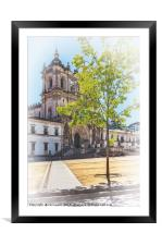 Alcobaça Monastery in Portugal, Framed Mounted Print