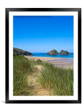 Holywell Bay, Cornwall, Framed Mounted Print