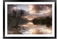 Sunrise over Llyn Padarn, Framed Mounted Print