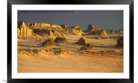Golden Sunset Glow at Mungo, Framed Mounted Print