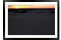 The Moment of Sunrise at Mungo, Framed Mounted Print