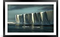 Iceberg in the Ross Sea at Night, Framed Mounted Print
