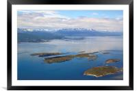 The Beagle Channel Aerial, Framed Mounted Print
