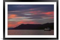 Sunset on the Beagle Channel, Framed Mounted Print