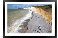 Seven Sisters From Birling Gap  , Framed Mounted Print