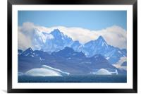 South Georgia, Southern Atlantic, Framed Mounted Print