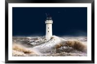 T`was on a night like this. (stormy sea), Framed Mounted Print